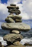 De Stapel van de steen op de Kust royalty-vrije stock foto's
