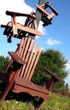 De Stapel van de stoel Stock Foto