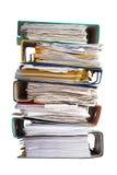 De stapel van dossierbindmiddel met documenten Royalty-vrije Stock Afbeelding