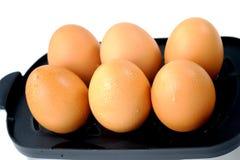 De stapel van eieren Stock Foto's