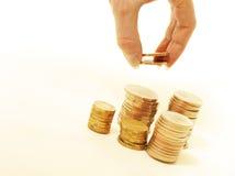 De stapel van financiën Stock Foto