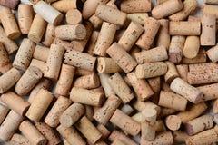 De stapel van Gebruikte Wijn kurkt royalty-vrije stock fotografie