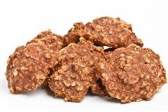 De stapel van geen bakt koekjes Stock Afbeelding