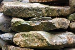 De stapel van grote stenen vat natuurlijke achtergrond samen stock fotografie