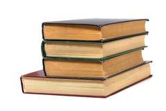 De stapel van het boek die op wit wordt geïsoleerdr Royalty-vrije Stock Foto's