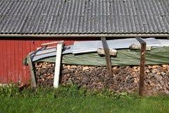 De stapel van het brandhout Stock Afbeeldingen