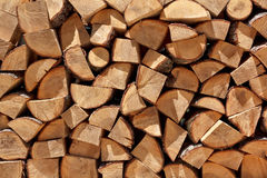 De stapel van het brandhout Royalty-vrije Stock Fotografie