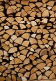 De stapel van het brandhout royalty-vrije stock foto