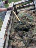 De stapel van het compost Royalty-vrije Stock Fotografie