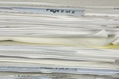 De Stapel van het document Royalty-vrije Stock Afbeeldingen