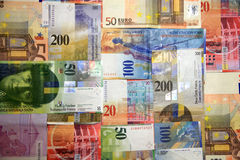 De Stapel van het geld Stock Afbeeldingen