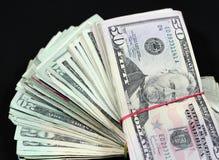 De Stapel van het geld Stock Foto's