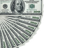 De Stapel van het geld $100 dollarsrekeningen Stock Afbeelding