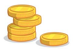 De Stapel van het muntstuk Stock Afbeeldingen