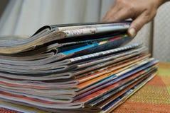 De stapel van het tijdschrift Stock Afbeeldingen