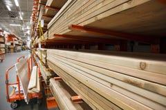 De stapel van het timmerhout Stock Afbeeldingen