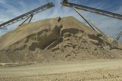 De stapel van het zand Stock Afbeelding