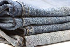De Stapel van jeans Stock Foto's