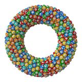 De stapel van loterijballen torus gevormde stapelversie Stock Afbeeldingen