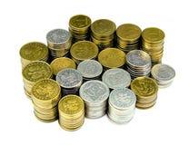 De stapel van muntstukken Royalty-vrije Stock Foto's