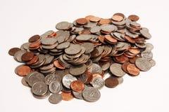 De stapel van muntstukken Royalty-vrije Stock Afbeeldingen