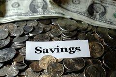 De stapel van de Pensioneringspret van het Muntstukkengeld investeert het IRA van de Besparingenuniversiteit royalty-vrije stock afbeelding