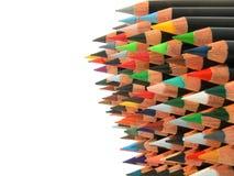 De stapel van potloden Stock Foto's