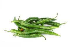 De stapel van Spaanse pepers Royalty-vrije Stock Foto's