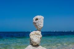 De stapel van stenen vat natuurlijk landschap samen Royalty-vrije Stock Foto