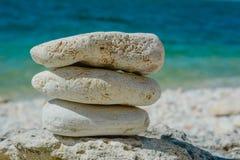 De stapel van stenen vat natuurlijk landschap samen Royalty-vrije Stock Foto's
