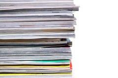 De Stapel van tijdschriften Stock Fotografie