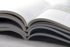 De stapel van tijdschriften Stock Foto