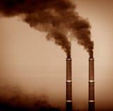 De stapels van de rook Stock Foto's
