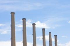 De stapels van de rook stock afbeelding
