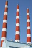 De Stapels van de Rook van de elektrische centrale Royalty-vrije Stock Fotografie