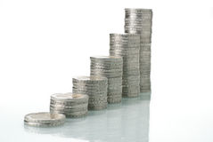 De stapels van het geld Royalty-vrije Stock Foto's