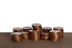 De stapels van het geld Stock Fotografie