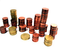 De stapels van het geld Stock Afbeelding