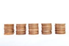 De stapels van het muntstuk Royalty-vrije Stock Fotografie