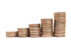 De stapels van het muntstuk Stock Fotografie