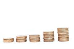 De stapels van het muntstuk Stock Afbeeldingen