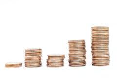 De stapels van het muntstuk Royalty-vrije Stock Foto