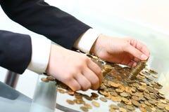 De stapels van muntstukken Royalty-vrije Stock Foto