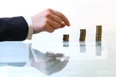 De stapels van muntstukken Royalty-vrije Stock Afbeelding