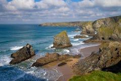 De Stappen Cornwall Engeland van Bedruthan stock foto