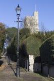 De Stappen die van de kerkheuvel tot St Milde ` s Kerk, Leigh-op-Overzees leiden, Royalty-vrije Stock Foto's