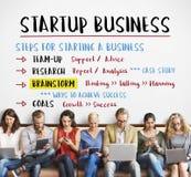 De Stappen Grafisch Concept van het start Businessplan Royalty-vrije Stock Foto's