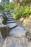 De Stappen van de Steen van de Rots van het Graniet van het landschap Stock Afbeelding