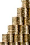 De stappen van het muntstuk Stock Afbeeldingen