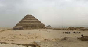 De Stappiramide van Saqqara, Egypte stock fotografie